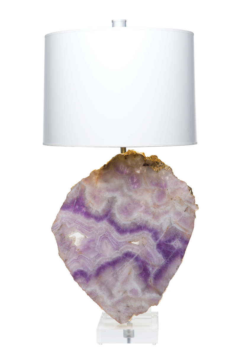 Glamazon lamp with mineral slab times two design - Console plexiglas transparent ...
