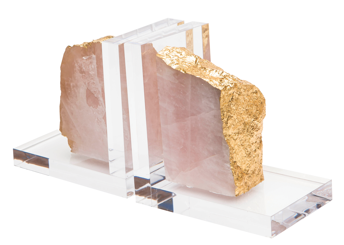 Mineral-Bookends-in-Rose-Quartz